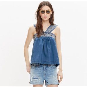 NWOT Madewell embroidered siesta top